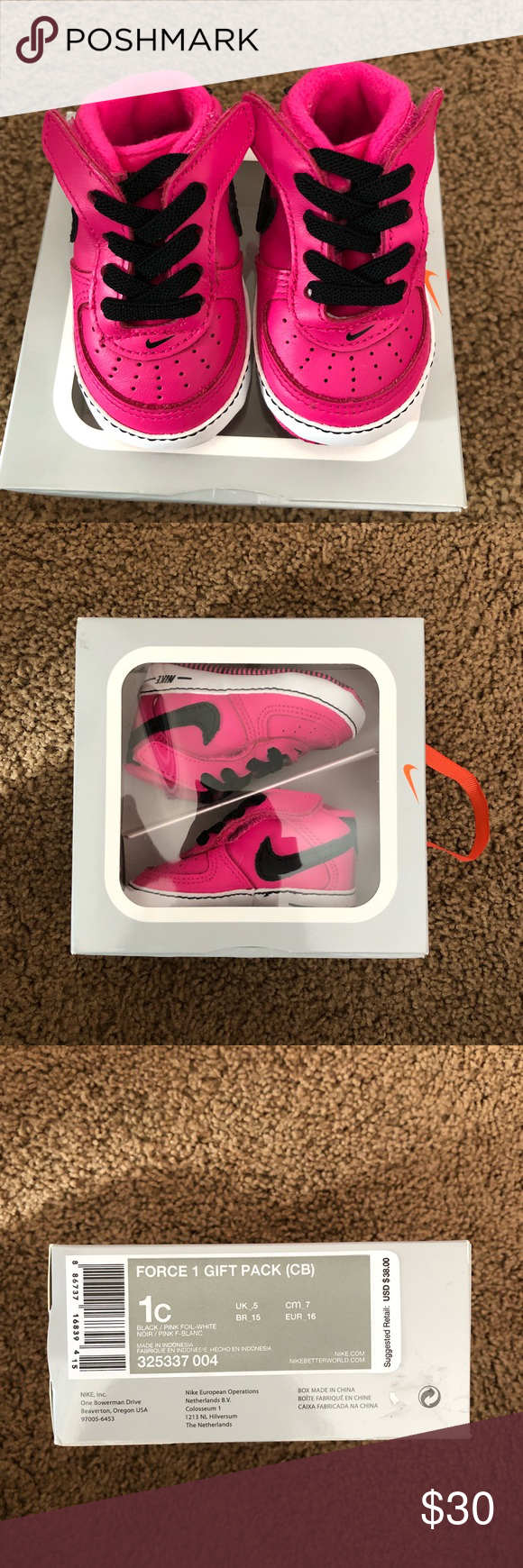 3ab334103dbc4 Nike Pink Air Force 1 Soft Shoes PRICE FIRM Brand new in box Nike pink Air  Force 1s. No need for these since they don t fit my daughter. Nike Shoes  Baby   ...