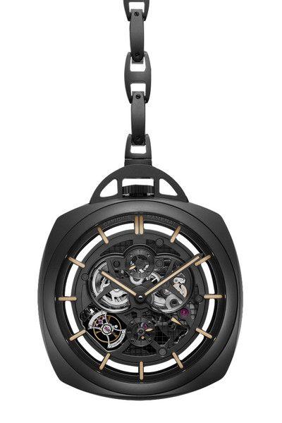 Special Edition 2013 Pocket Watch Tourbillon GMT Ceramica PAM00446