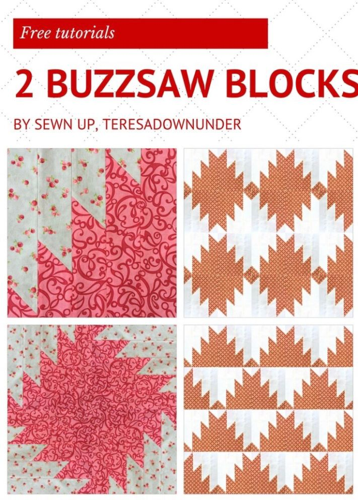 2 Buzzsaw Quilt Blocks Free Video Tutorials Quilting