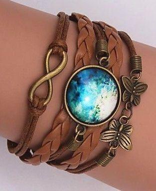 Galaxy Moon Wrap Bracelets //