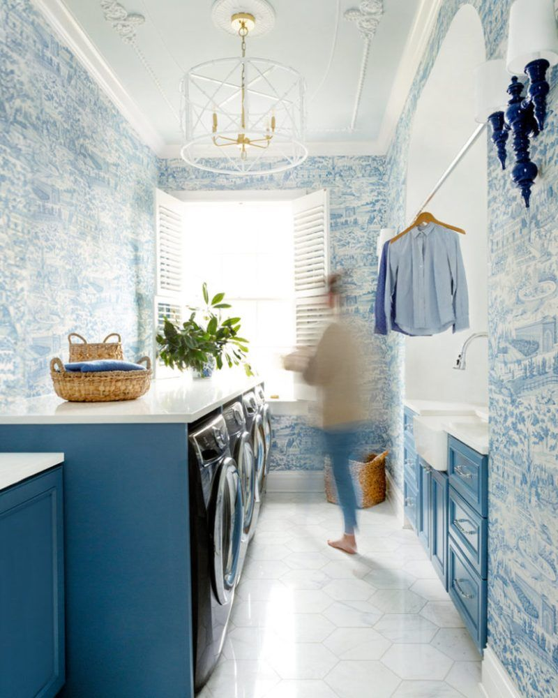 Style Profile Tori Alexander   The Glam Pad   White laundry rooms ...