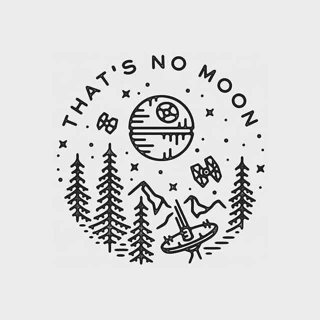 That's no moon. Beautiful Star Wars graphic design by Liam