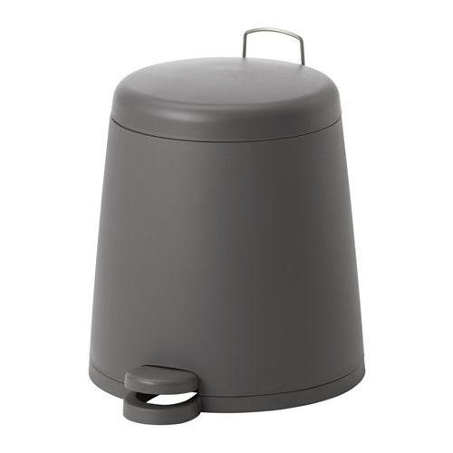 Ikea Snapp Poubelle A Pedale Gris La Poignee Situee Au Dos De