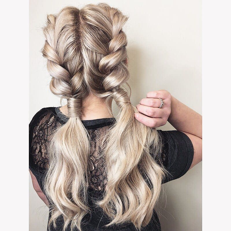 Double Tap For These Double Braids Tutorial Coming Soon Stay Tuned To Ghd On Youtube Sarah Burgess Hair Ghdhair Goodhairday H A I R In 2019 Rave Hair Night Out Hairstyles Twist Braid Hairstyles