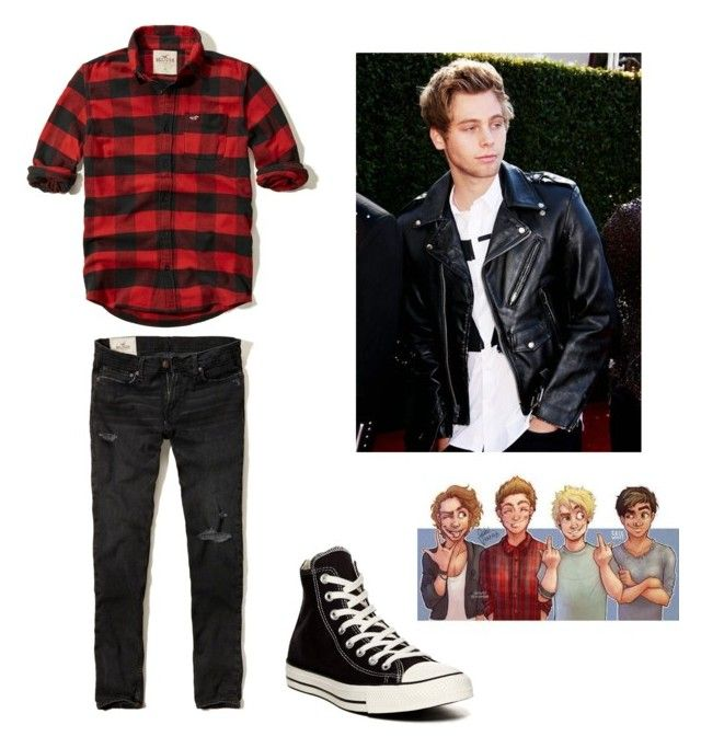 """""""bae goalsssss"""" by lessamazingallison on Polyvore featuring Hollister Co. and Converse"""