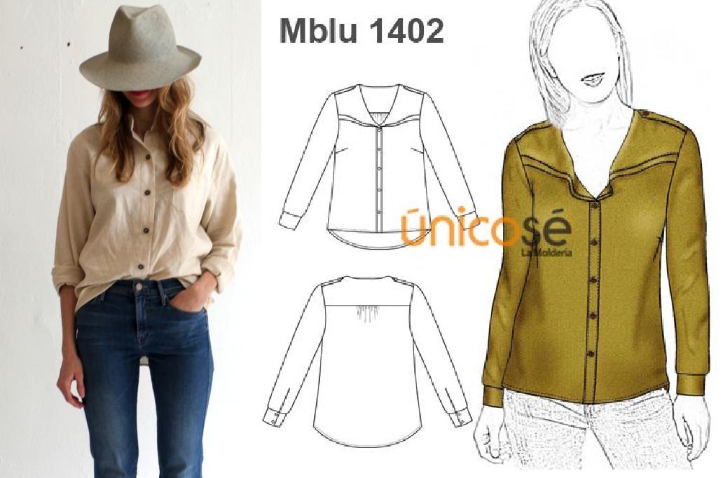 Esta blusa es ideal para un look casual de fin de semana. El molde está en www.unicose.net / Código 10061402