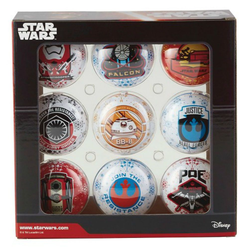 Disney Star Wars Christmas Tree Ornament Set Ep VII Hallmark BB8