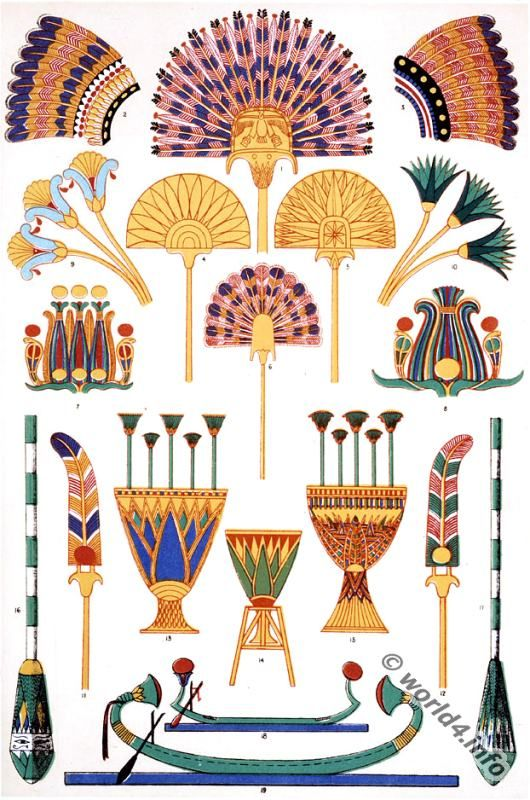 Ancient Egyptian Ornaments From From Abu Simbel Pharaoh