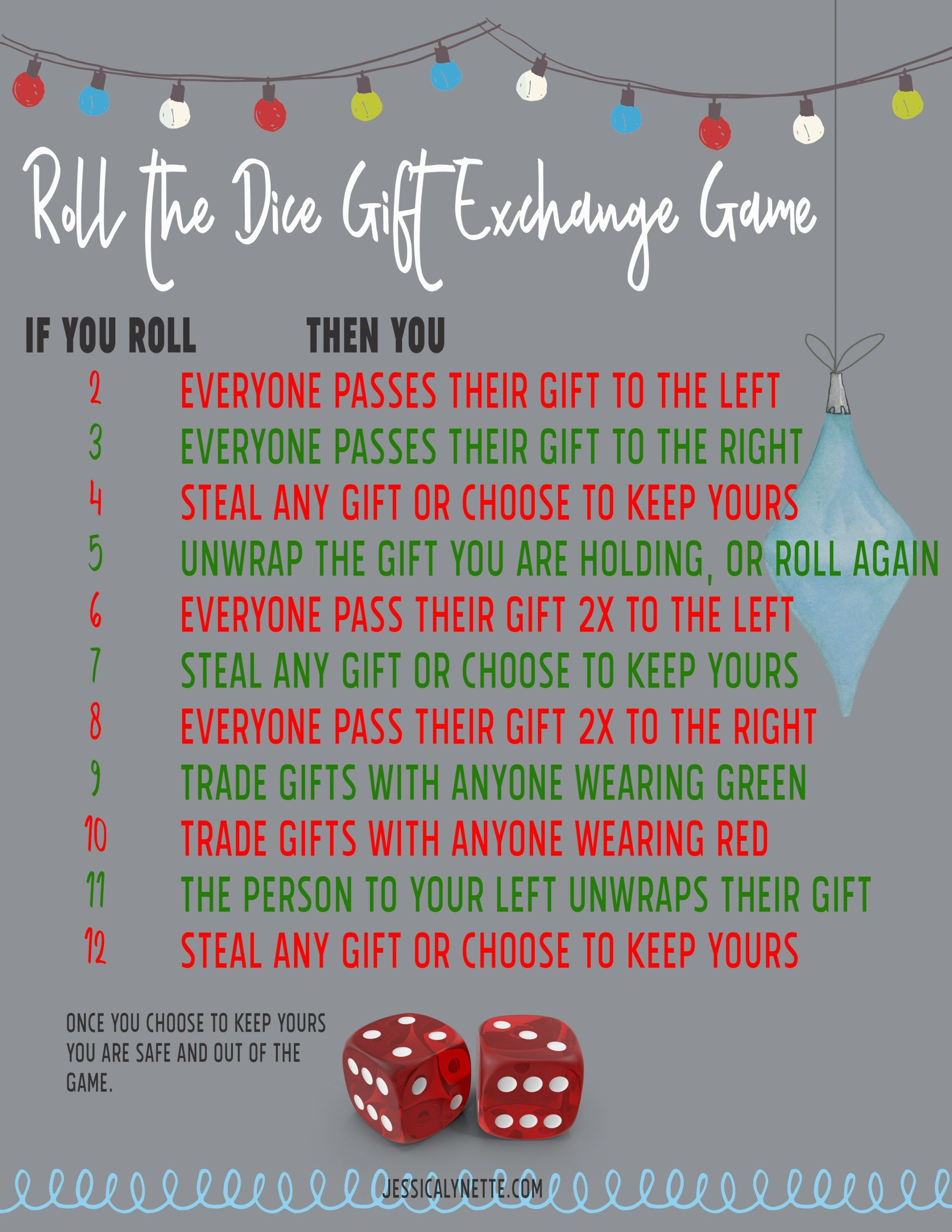 Roll The Dice Christmas Gift Exchange Game : christmas, exchange, Christmas, Party, Ideas, Games, Games,, Exchange