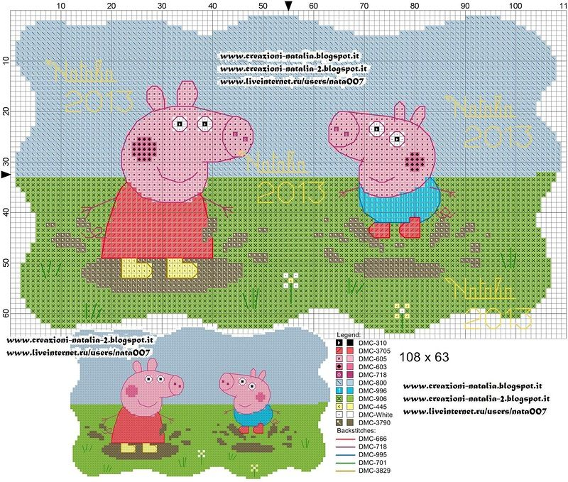 Peppa Pig e George saltano nella pozzanghera