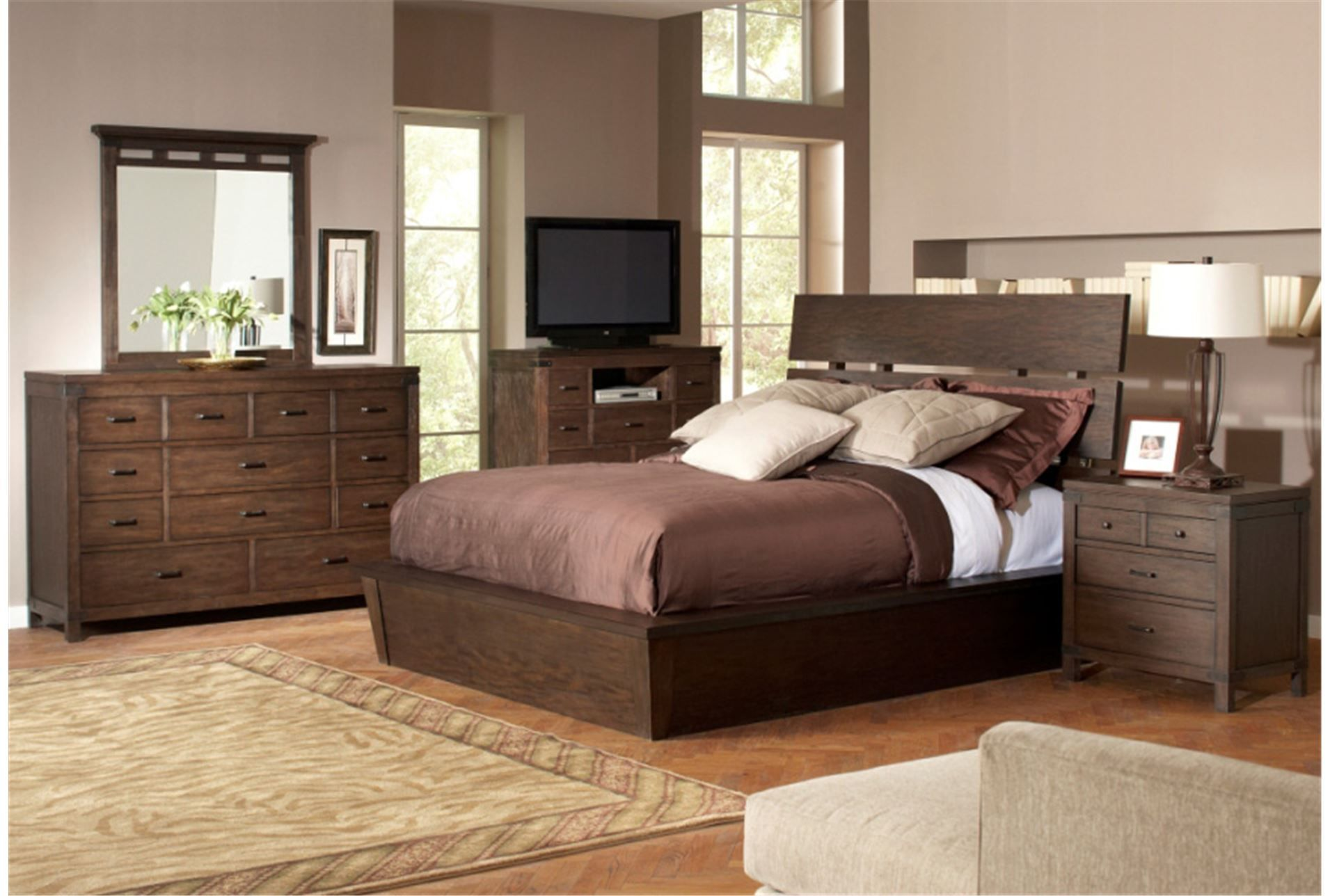 Livingston Bedroom furniture minus bed. Living Spaces.  Riverside