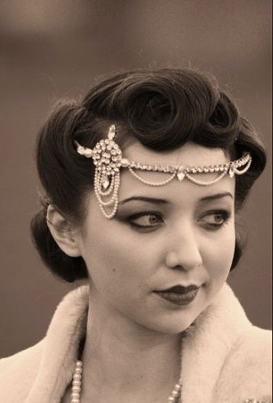 Obsessed with this headband. Love the vintage!!