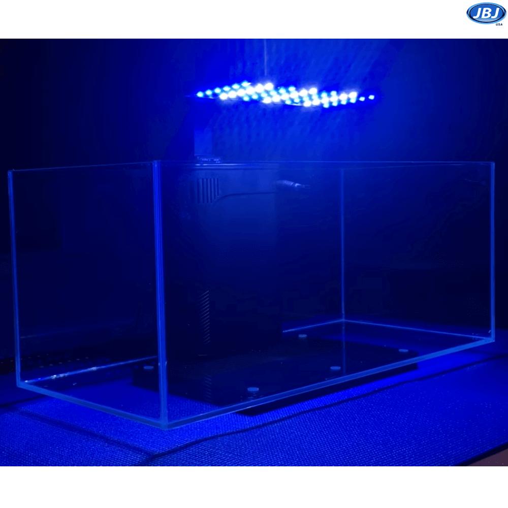 Jbj Rimless Desktop 10 Gallon Flat Panel Aquarium W Lyra Led Light On Sale 219 97 Living Room Decor Apartment Online Store Design Fish Tank