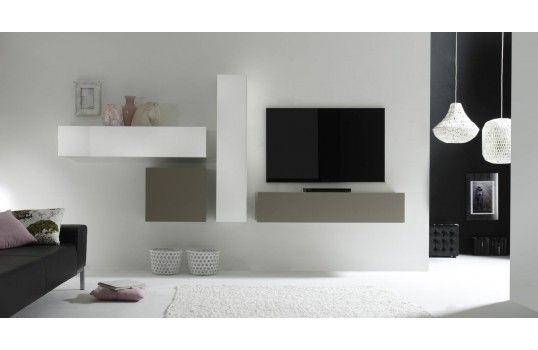 Ensemble Meuble Tv Mural Design Gabino Originalite Design
