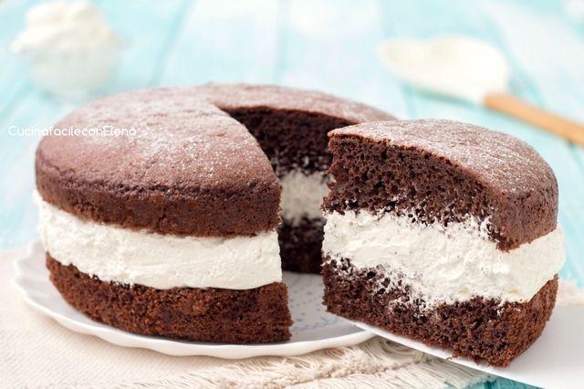 Dolci Da Credenza Torta Paradiso : Torta paradiso al cioccolato farcita con crema latte dolci
