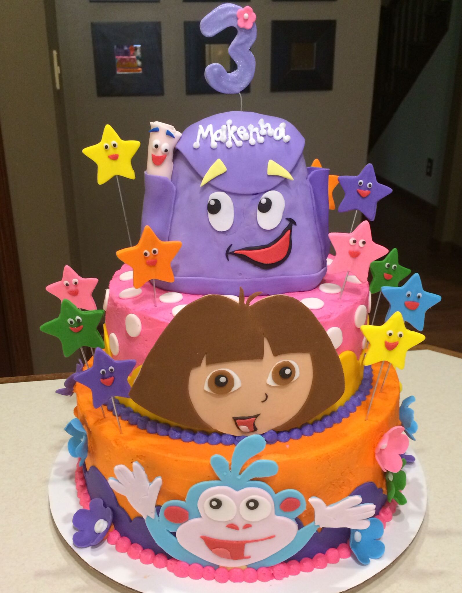 Swell Dora The Explorer Cake Verjaardag Feest Verjaardag Feest Themas Personalised Birthday Cards Veneteletsinfo
