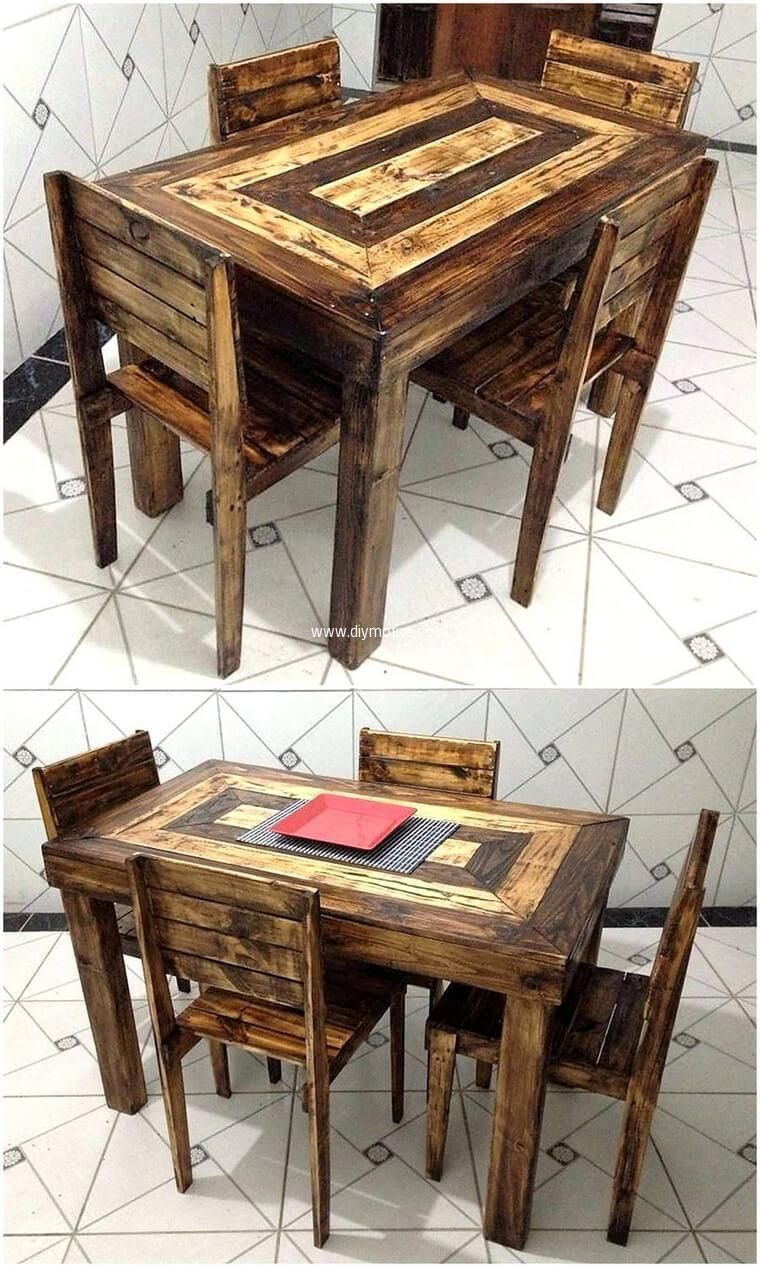 This Reused Wood Pallet Table Is Very Simple To Craft In