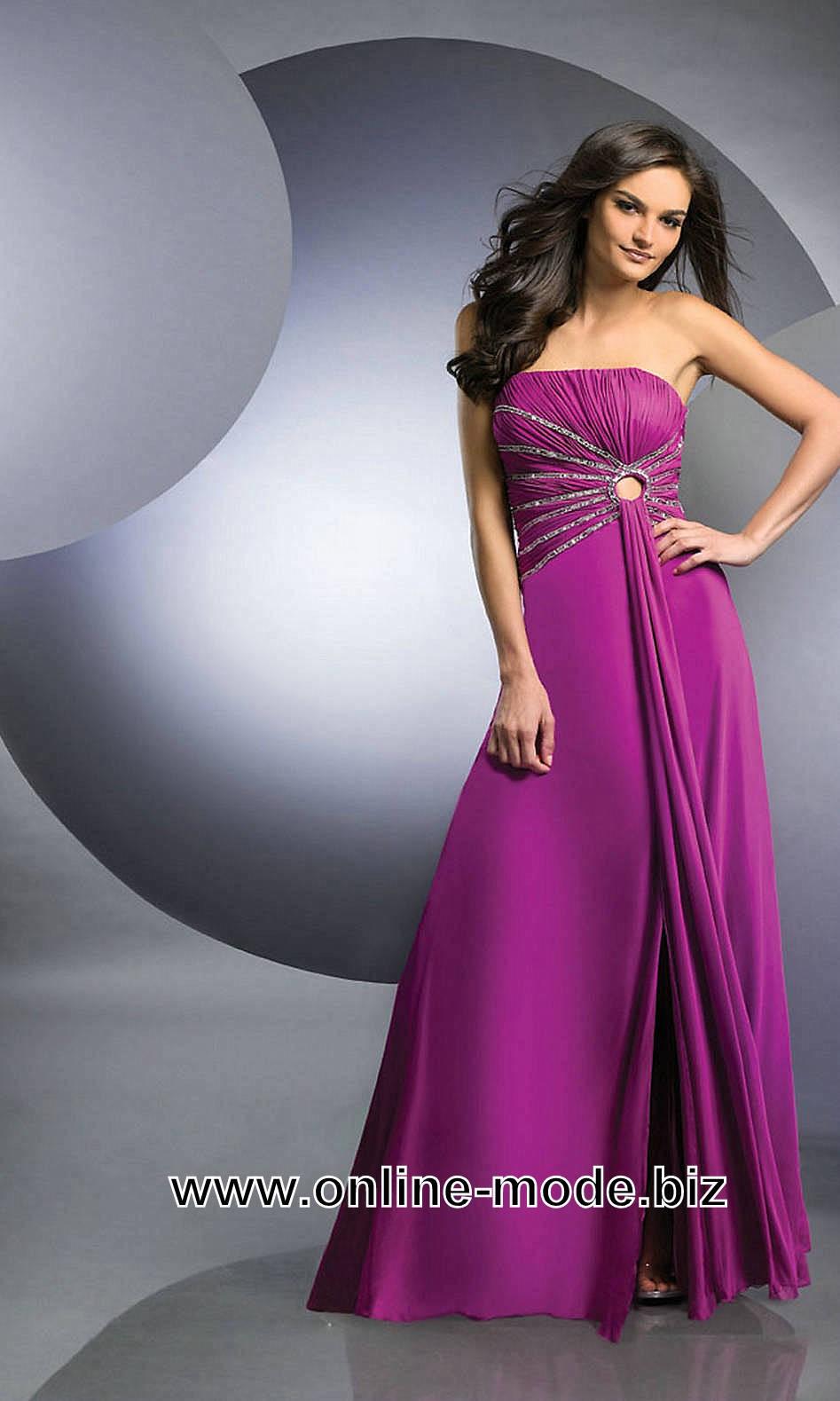 Bodenlanges Abendkleid in Lila  Abschlussball kleider, Abendkleid