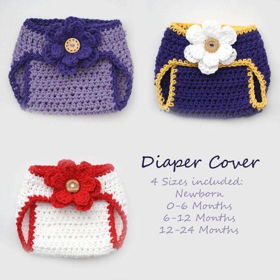 sweet diaper covers | crocheteando | Pinterest | Bebe, Crochet bebe ...