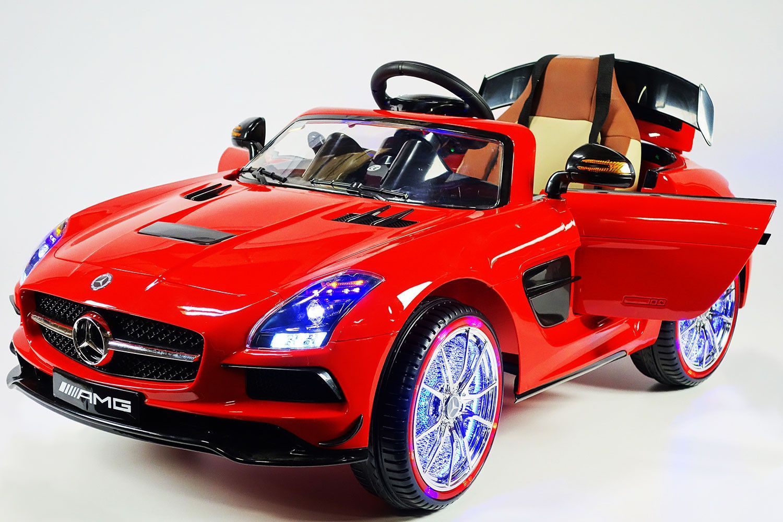 mercedes sls 12v kids ride on car usb mp3 battery powered wheels rc remote red cars. Black Bedroom Furniture Sets. Home Design Ideas