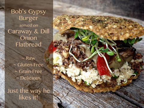 Bobs raw gypsy burger burgers bob s and raw vegan vegan burgers forumfinder Image collections