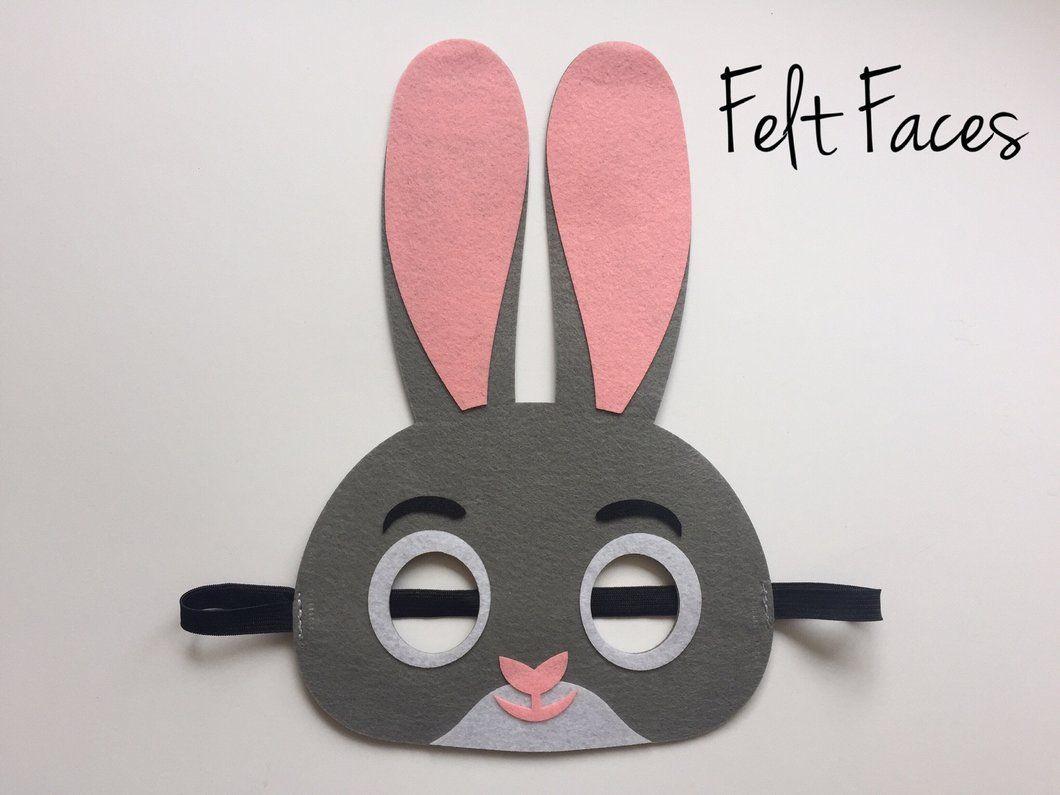 Bunny Rabbit Mask, Easter Bunny Mask, Bunny Rabbit Party Favors ...