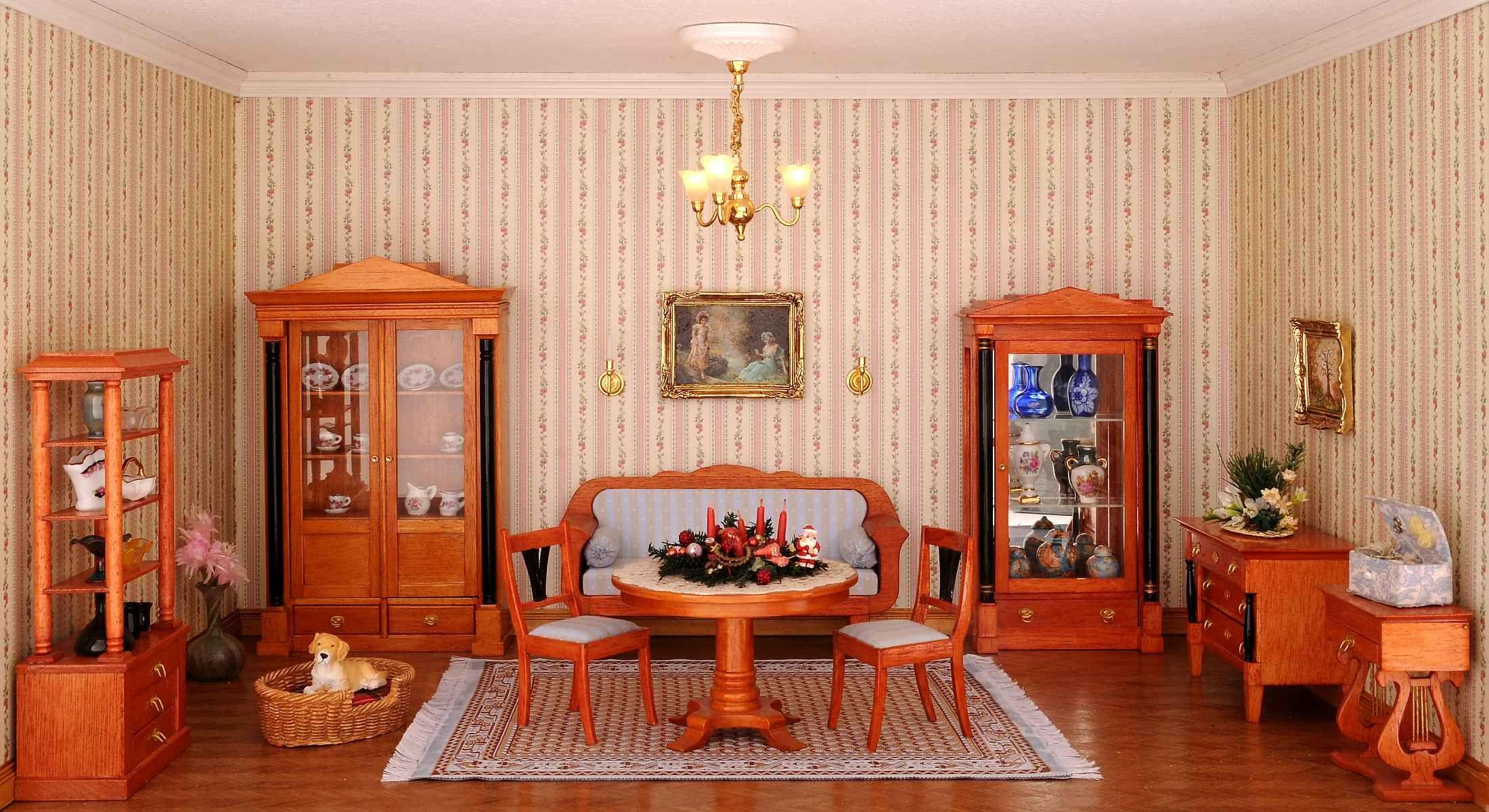 Mini Wohnzimmer ~ Unser biedermeier wohnzimmer. die wohnkultur der biedermeierzeit