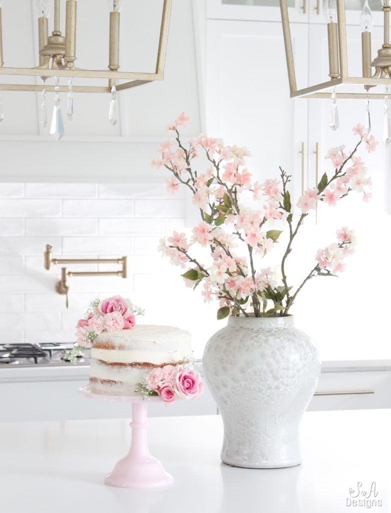 Pink Lemonade Chiffon Naked Cake | Naked, Cake and Kitchens