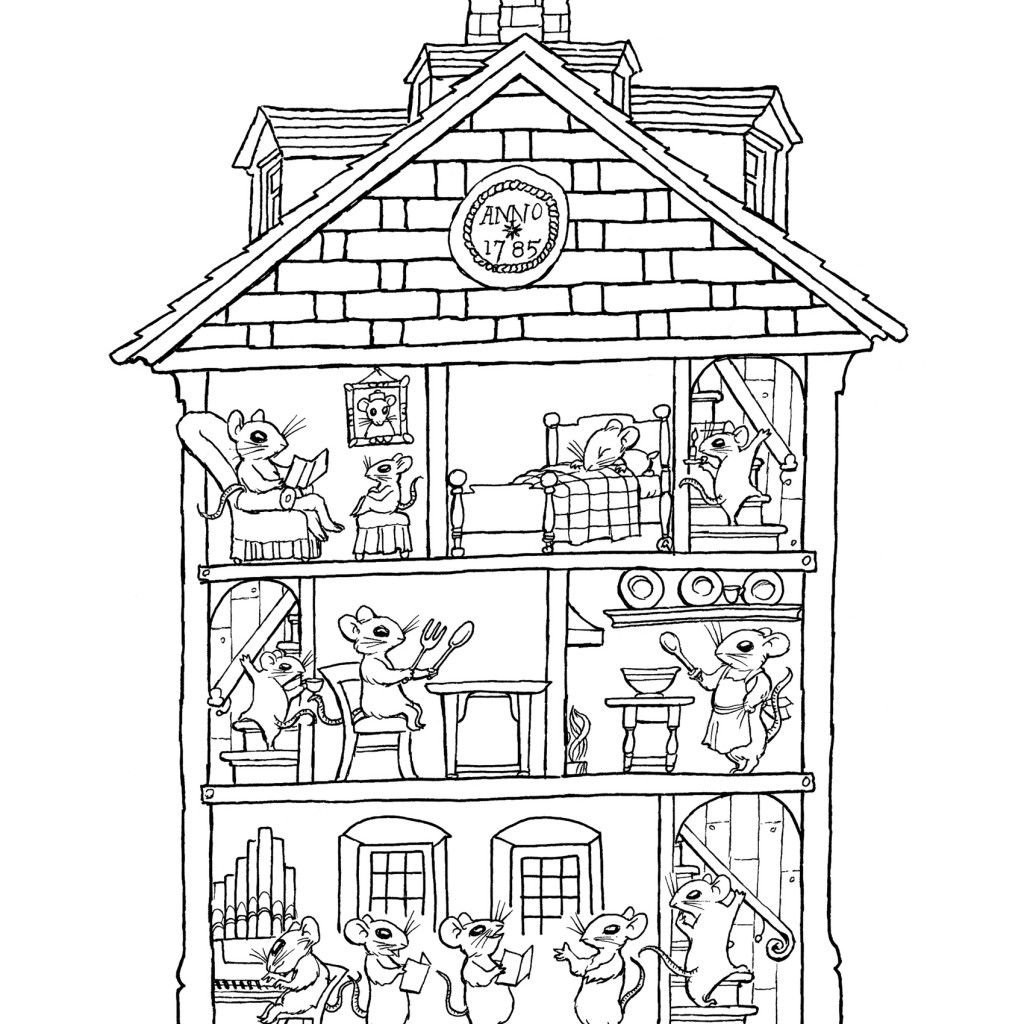 haunted house coloring pages   Google Search   House ...