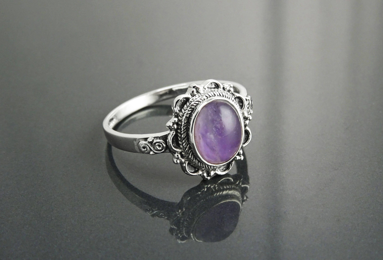 Luxe Véritable Améthyste Stone /& 925 Pendentif en Argent-Bracelet-Boucles d/'oreilles femmes Set