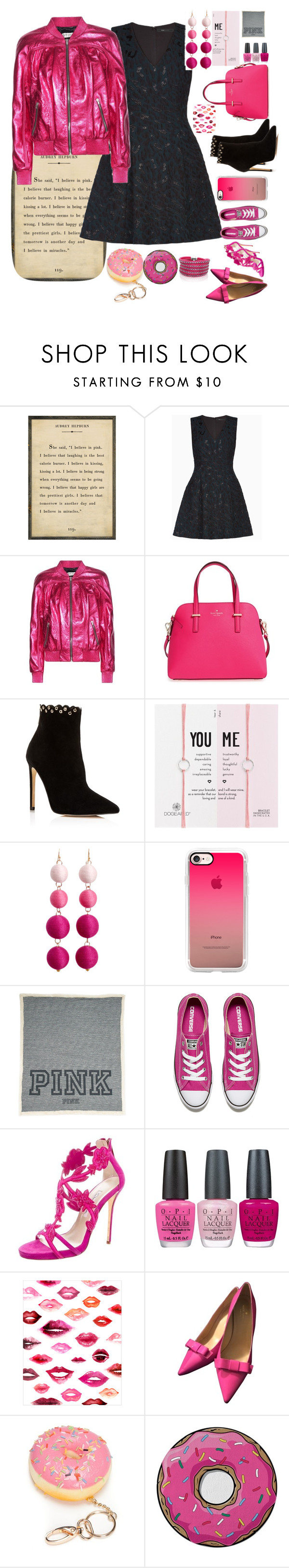 """The choice is mine"" by dancininvictory ❤ liked on Polyvore featuring BCBGMAXAZRIA, Yves Saint Laurent, Kate Spade, Raye, Dogeared, Casetify, Converse, Oscar de la Renta, OPI and WALL"