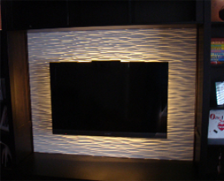3d wall panel tv board or around fireplace perhaps?  New ...
