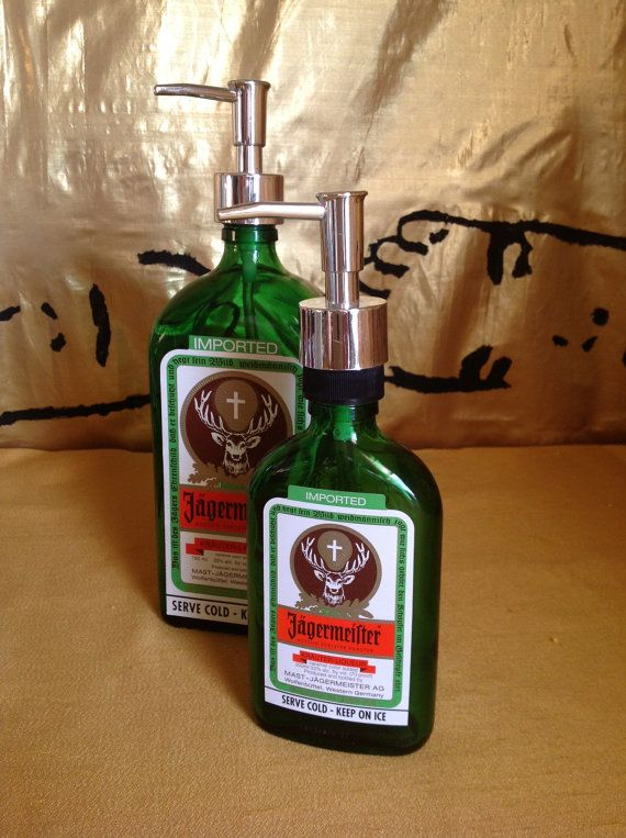 Recycled Bottle Soap Dispenser Set Jagermeister By