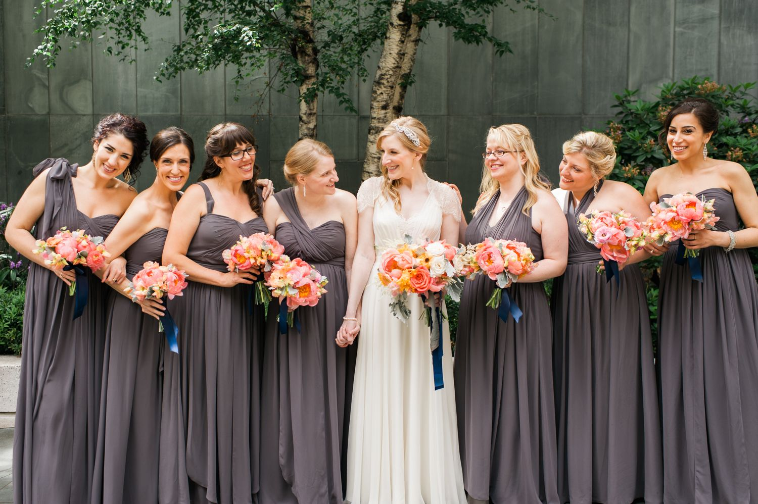 Jenny yoo aidan dresses in charcoal real weddings bridesmaids jenny yoo collection bridal and bridesmaids dresses for the simple bride ombrellifo Choice Image