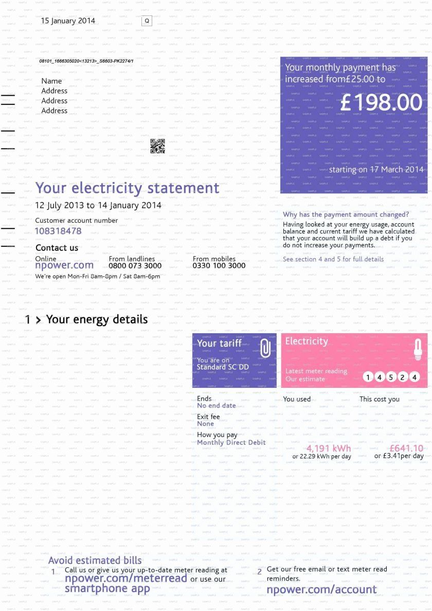 Fake Utility Bill Template Unique Centerpoint Provider Energy Electric Houston Texas Peterainsworth Bill Template Statement Template Label Templates