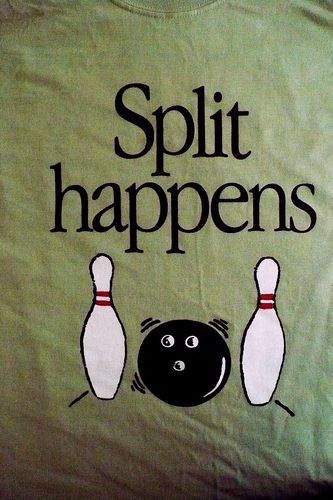 aab94c8ea Bowling T-Shirt - Split Happens - Men's Large #bowling #tshirt ...