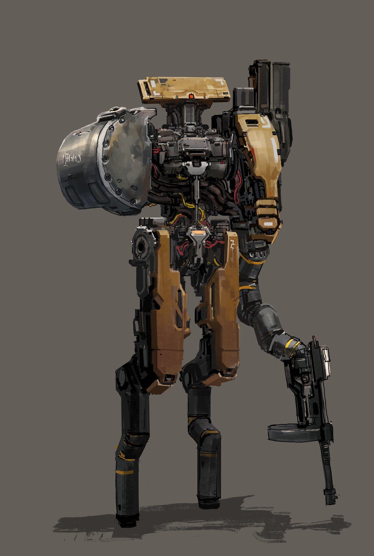 Artstation One Armed Bandit Yong Yi Lee Sci Fi Pinterest Robotics Prometheus Pcb Maker Automates Circuit Board Creation Video Robot Art Concept
