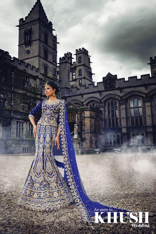 Be bold in blue! grab yourself a bridal outfit from Birmingham based World of Fashion By Nesh​ 131 Ladypool Road, Birmingham, B12 8LH +44(0)121 440 0890 Hair & Makeup: Julie Ali Mua​ Jewellery: Almas Jewels​ Location: Carlton Towers
