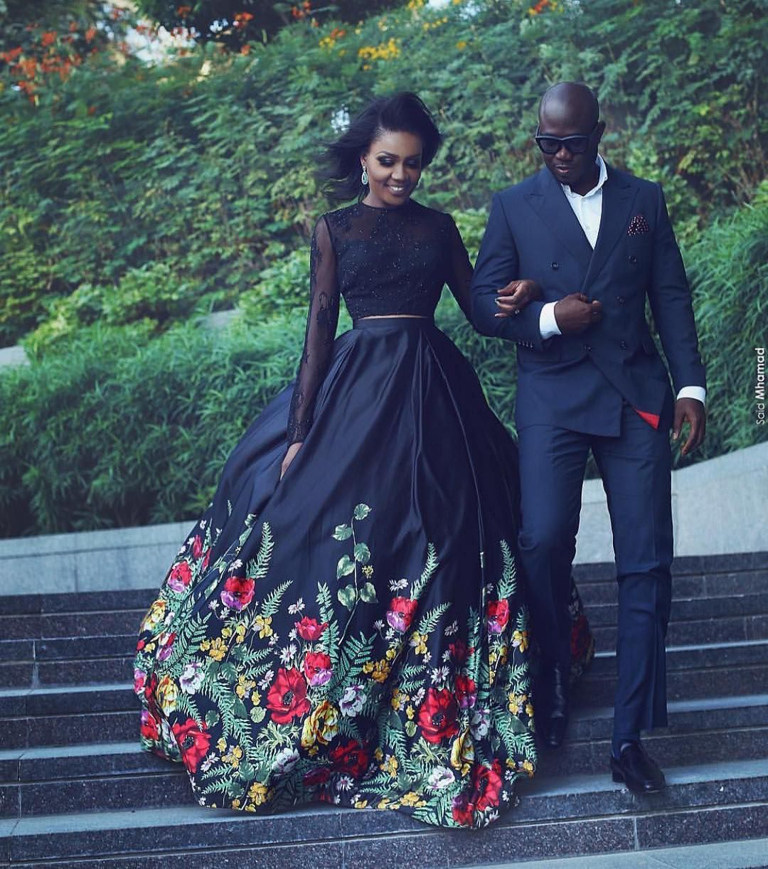 Swishideas w wla saidmhamadphotography for Black floral dress to a wedding