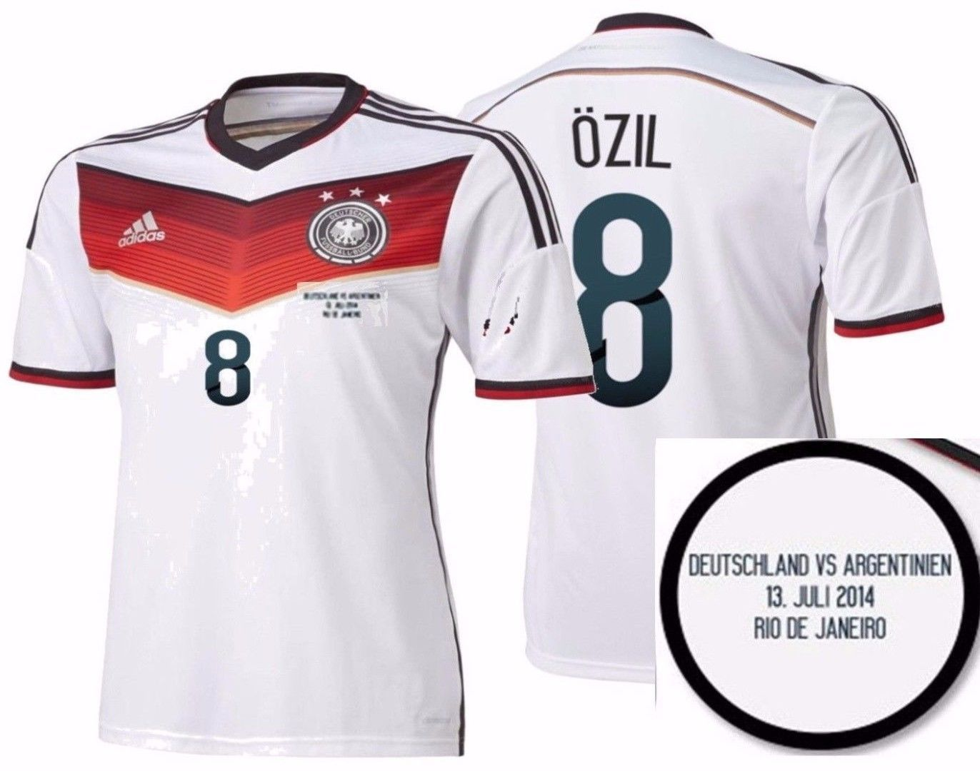 Adidas M Ozil Germany Authentic Final Game Jersey Fifa World Cup Brazil 2014 Fifa World Cup Game World Cup Fifa World Cup