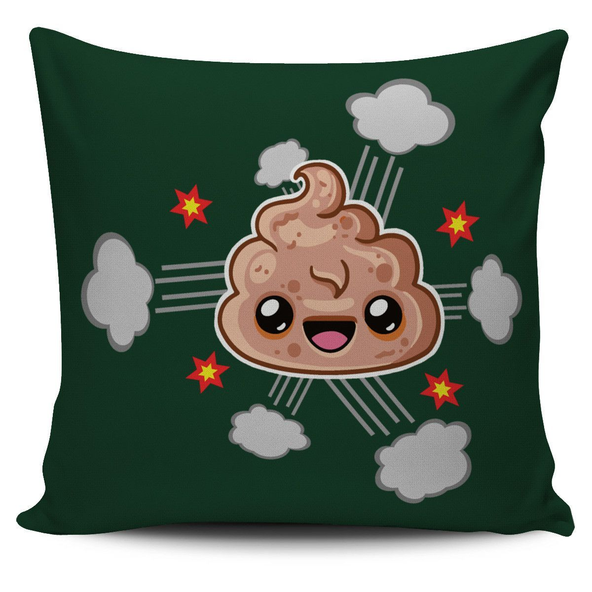 Poop emoji pillow funny character design emoji and products