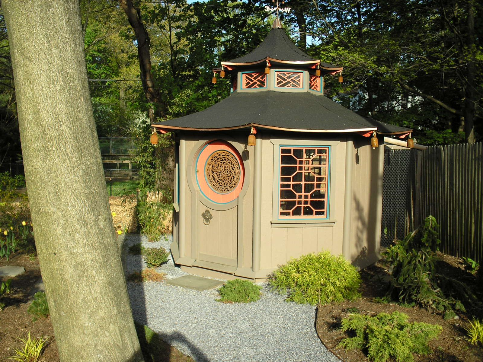 Asian style chicken house