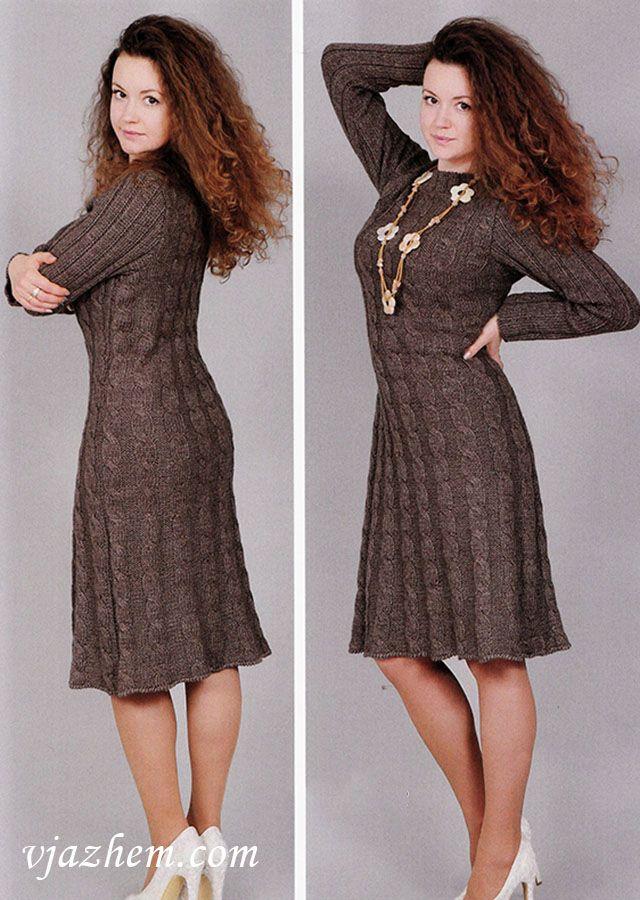 Women\'s dress knitting pattern free | knit | Pinterest | Tejido y ...