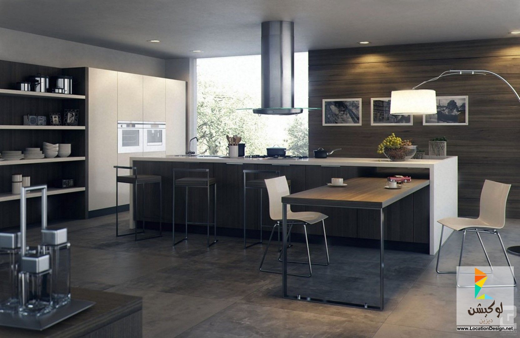 احدث مطابخ مفتوحه امريكانى مودرن Contemporary Kitchen Design Modern Kitchen Layout Masculine Kitchen