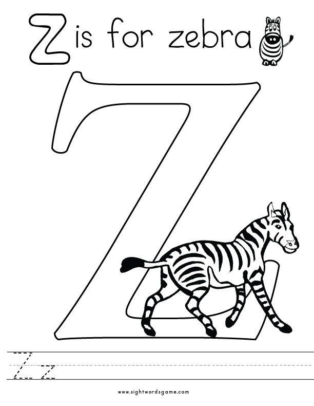 Alphabet Coloring Pages Alphabet Coloring Pages Alphabet Coloring Zebra Coloring Pages