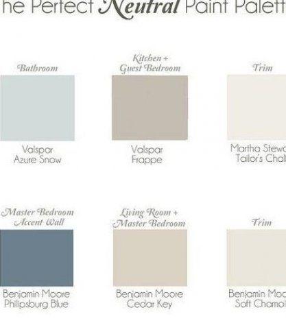 Whole Home Neutral Paint Palette Bathroom Paint Color
