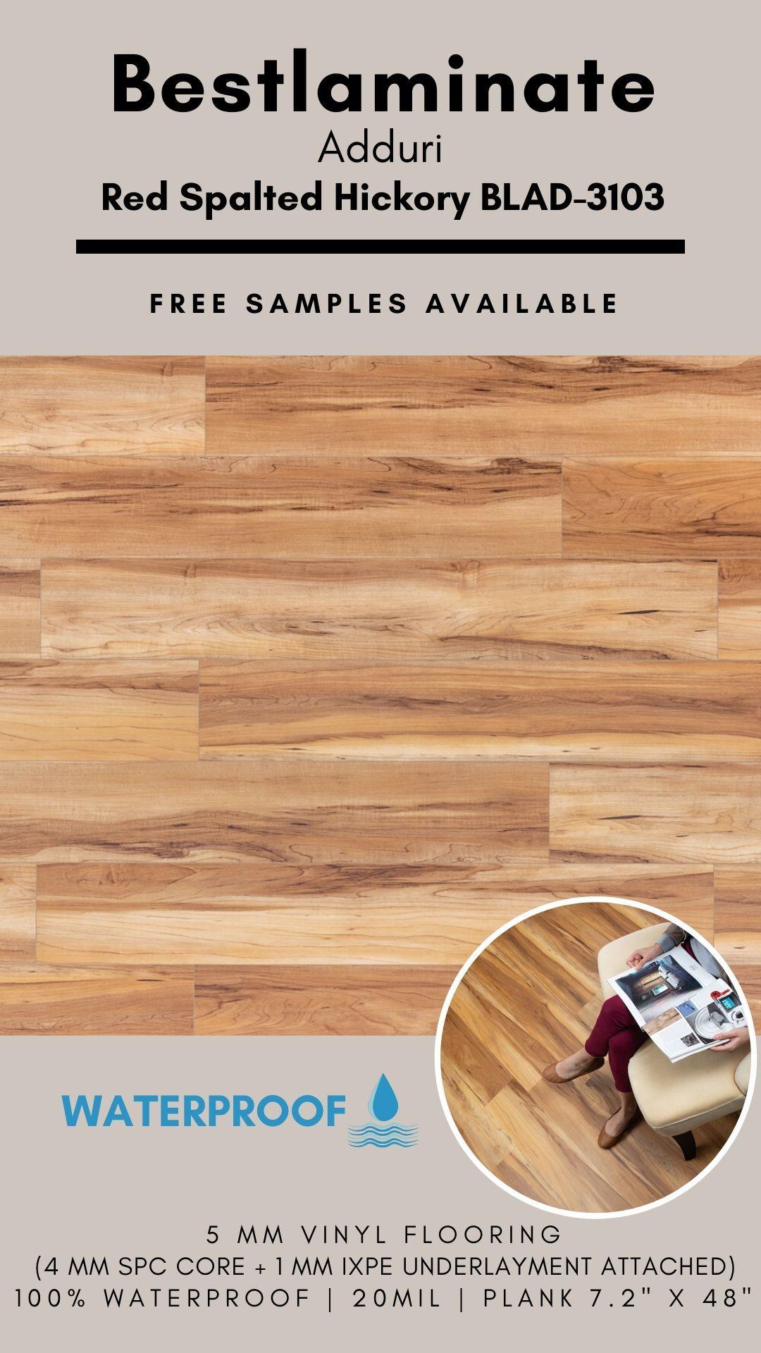 Bestlaminate Adduri Red Spalted Hickory Blad 3103 Luxury Spc Vinyl Flooring In 2020 Vinyl Flooring Vinyl Plank Flooring Luxury Vinyl Plank Flooring