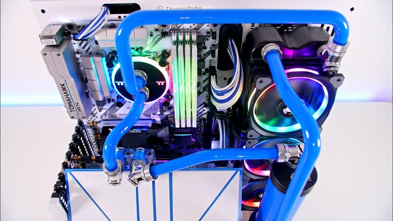 Core P3 Project Blue Snow Pc Build Time Lapse Best Gaming