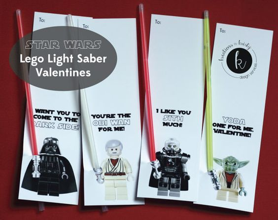 photograph about Lightsaber Valentine Printable called Star Wars Lego Shine Adhere Gentle Saber Valentines: a pleasurable card