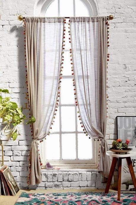 Borlitas en cortinaje Cortinas, Decoración y Hogar - cortinas decoracion